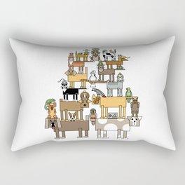 Acrobatic Pets Rectangular Pillow