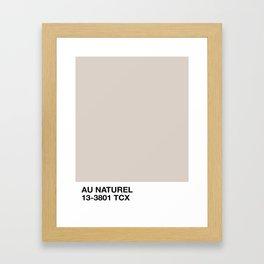 au naturel Framed Art Print