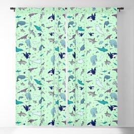 Sea Animals Blackout Curtain