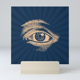 Pop Art Retro Eye Pattern Mini Art Print