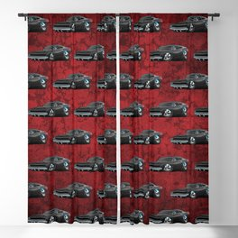 Classic 60's American Muscle Car Cartoon Blackout Curtain