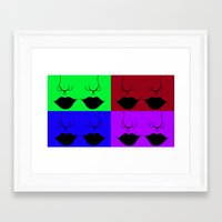 popart Framed Art Prints featuring Mouthy PopArt by Ellie Bowden