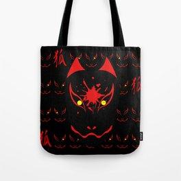 "Japanese Fox Mask ""Dark"" Tote Bag"
