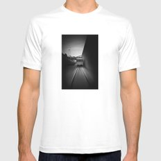 the pursuit White Mens Fitted Tee MEDIUM