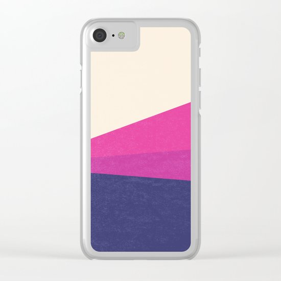 Stripe IV Violet Ray Clear iPhone Case