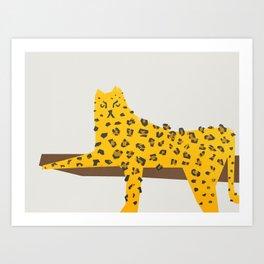 Leopard Lazy Art Print