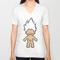 8bit V-neck T-shirts featuring 8bit troll by John Trivelli