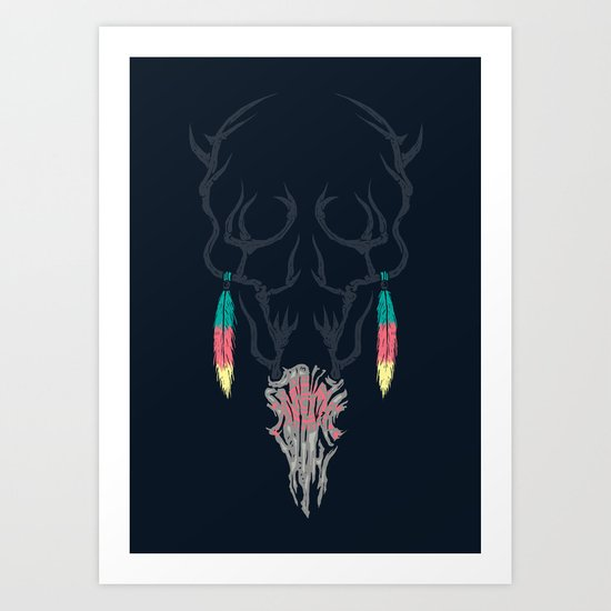 Darkness Within (Color Ver.) Art Print