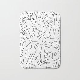 doodle people 1 Bath Mat