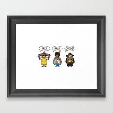 Holler At Your Boys Framed Art Print