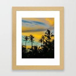Tropical Scene at Sunset Time Framed Art Print