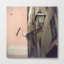 Street in San Remo, Italy Metal Print