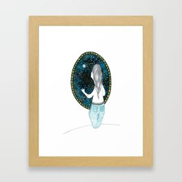 Looking at the universe Framed Art Print