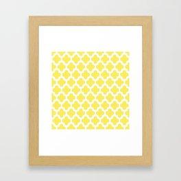 CLOVER QUATREFOIL LEMON Framed Art Print