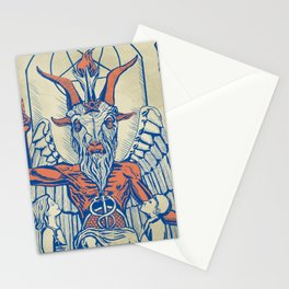 Baphomet Statue in a Box Stationery Cards