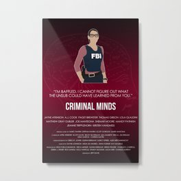 Criminal Minds - Prentiss Metal Print