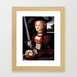 Judith with the Head of Holofernes Framed Art Print