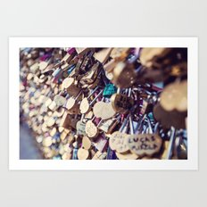 Paris Love Locks Art Print