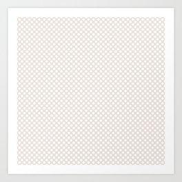 Bridal Blush and White Polka Dots Art Print