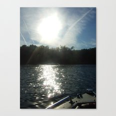 Floating Along Canvas Print