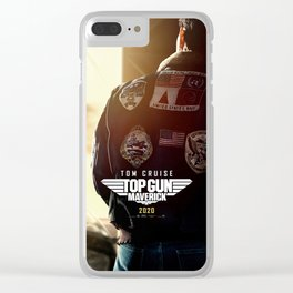 Maverick Top Gun Movie Poster Clear iPhone Case