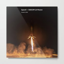 SpaceX — SAOCOM 1A Mission Metal Print