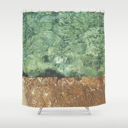 Sea contrast Shower Curtain