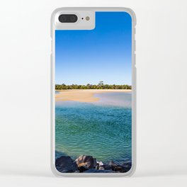 Noosa River Sandy Inlet Clear iPhone Case