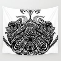 henna Wall Tapestries featuring Henna of Pugly by Huebucket