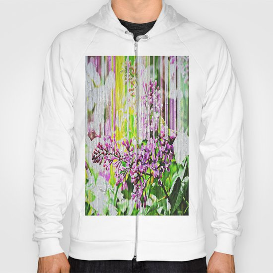 White Washed Painted Lilac Hoody