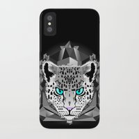 snow leopard iPhone & iPod Cases featuring Snow Leopard by chobopop