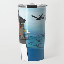 Tuskadero Slim at his home in the Cape Meares Lighthouse from Flock of Gerrys Gerry Loves Tacos Travel Mug