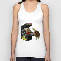 ninja turtle Tank Tops featuring Arcade Ninja Turtle by Michowl