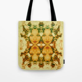 Faces two Tote Bag