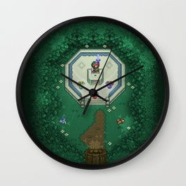 Zelda Mastesword Pixels Wall Clock