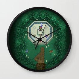Zelda Mastesword Pixels Wall Clock