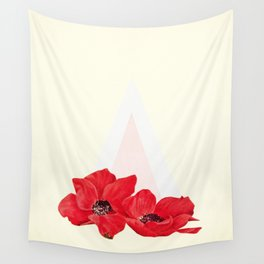 Floral Triangle Wall Tapestry