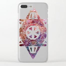 Metatron's Cube Time Wheel ~ Space Cotton Candy Clear iPhone Case