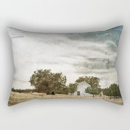 Little Blue Church Rectangular Pillow
