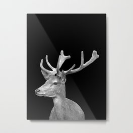 Deer Black Metal Print