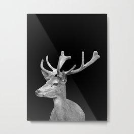 Deer Black Metal Print