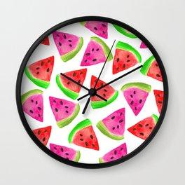 Watermelon Frenzy Wall Clock