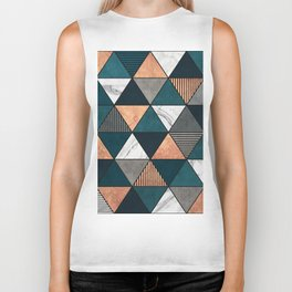 Copper, Marble and Concrete Triangles 2 with Blue Biker Tank