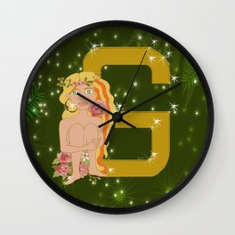 G for Gold Wall Clock