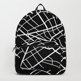Buenos Aires, Argentina - Black Map Backpack