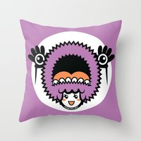 pagan Throw Pillows featuring Pagan Lavender by Pagan Holladay