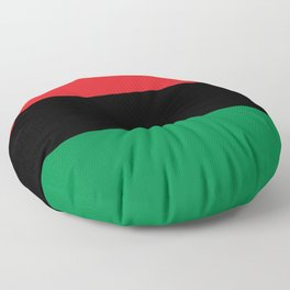 flag of Pan-Africanism or Unia Floor Pillow