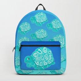 Teal Sea Turtles Blue & Aqua Pattern Backpack