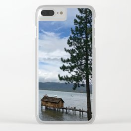 Cabin on the Lake Clear iPhone Case