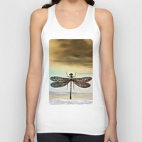 dragonfly Tank Tops featuring DRAGONFLY  by Pia Schneider
